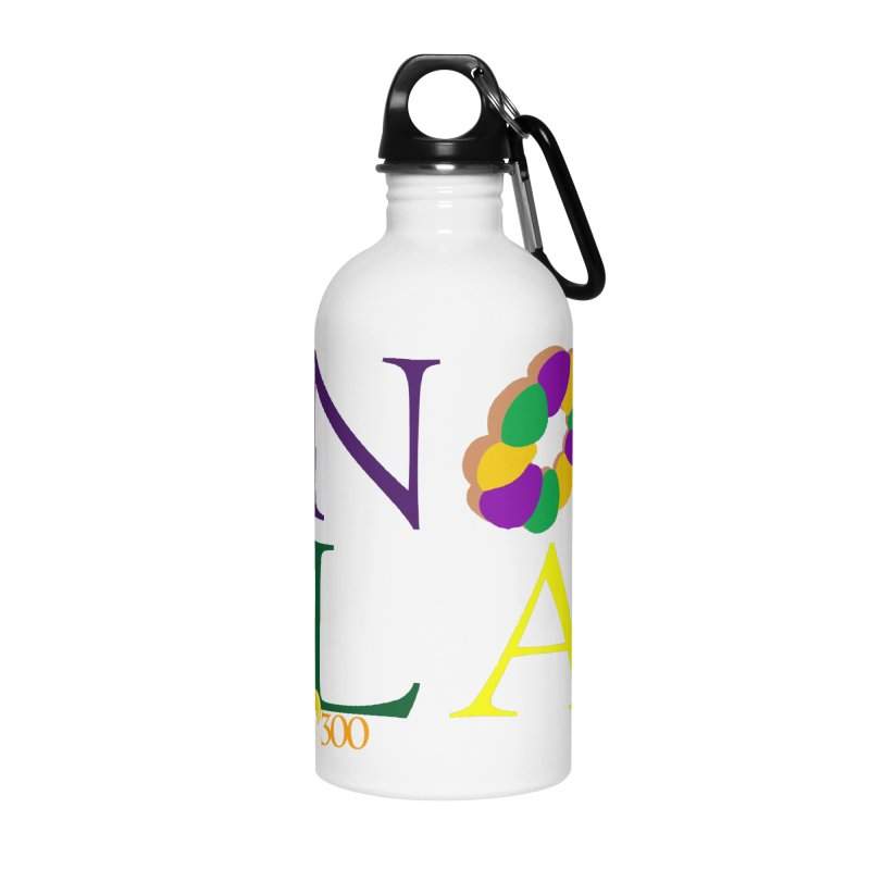 Mardi Gras T-Shirt Design Contest Winner Accessories Water Bottle by New Orleans Pride