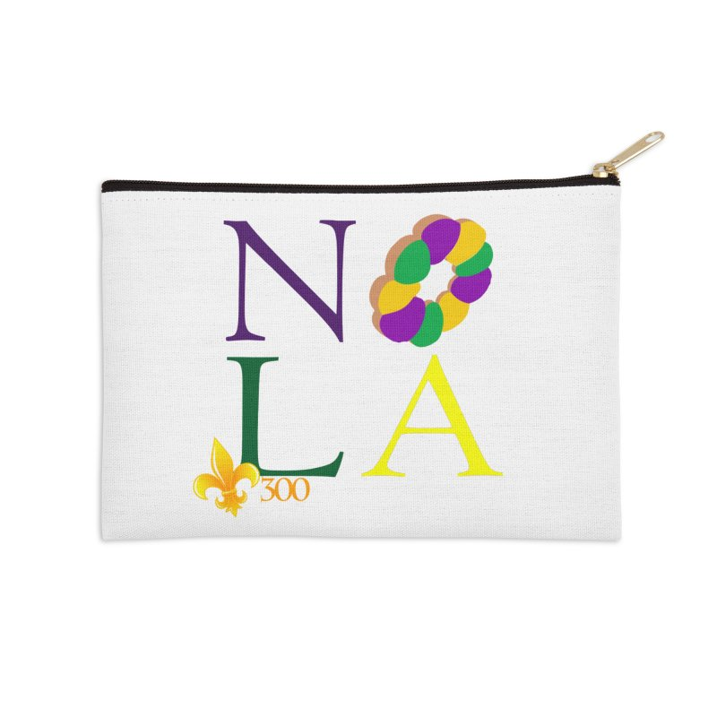 Mardi Gras T-Shirt Design Contest Winner Accessories Zip Pouch by New Orleans Pride