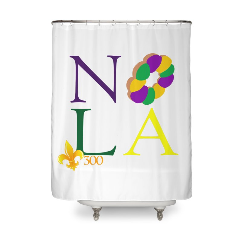 Mardi Gras T-Shirt Design Contest Winner Home Shower Curtain by New Orleans Pride