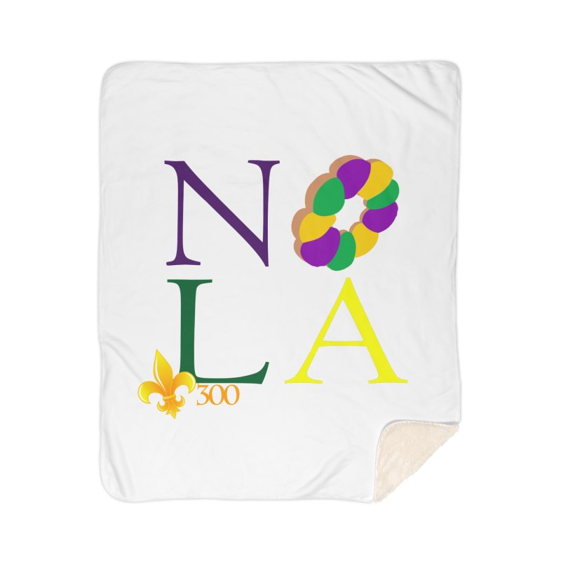 Mardi Gras T-Shirt Design Contest Winner Home Sherpa Blanket Blanket by New Orleans Pride
