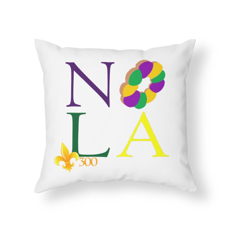Mardi Gras T-Shirt Design Contest Winner Home Throw Pillow by New Orleans Pride