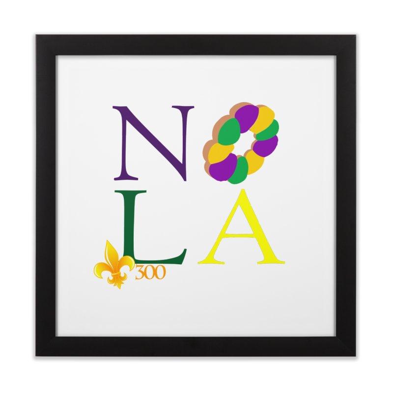 Mardi Gras T-Shirt Design Contest Winner Home Framed Fine Art Print by New Orleans Pride