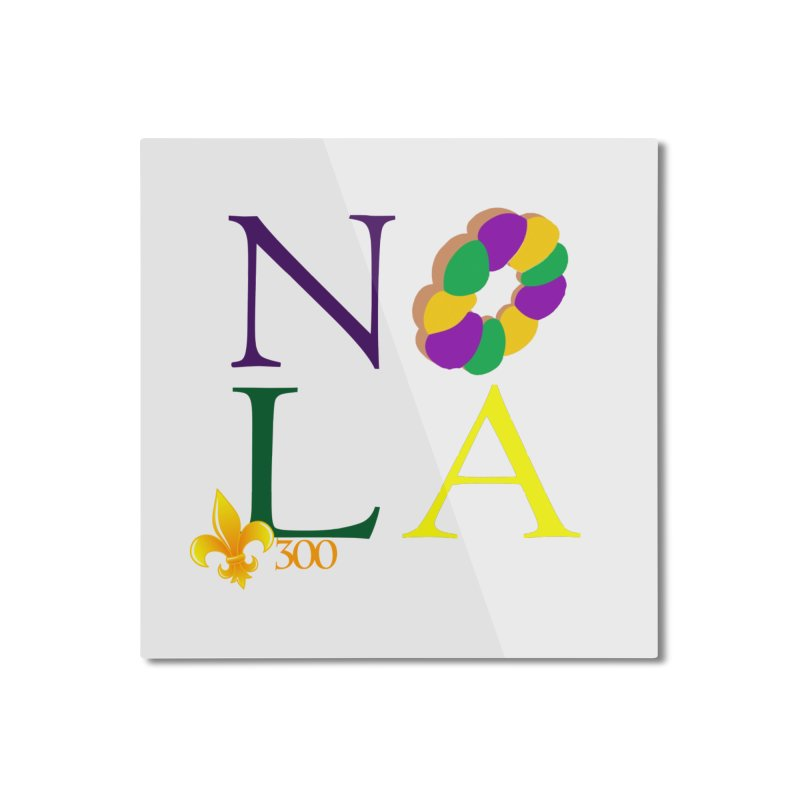 Mardi Gras T-Shirt Design Contest Winner Home Mounted Aluminum Print by New Orleans Pride