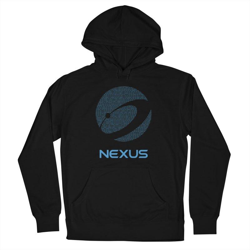 Digital Nexus in Men's French Terry Pullover Hoody Black by Nexus Shop