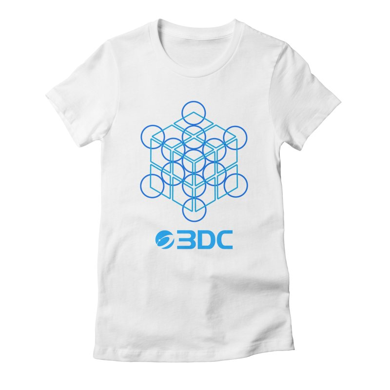 3DC in Women's Fitted T-Shirt White by Nexus Shop