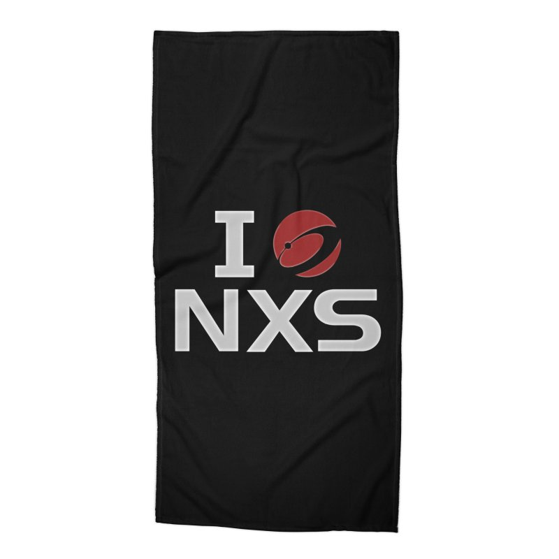 I Heart NXS Accessories Beach Towel by NexusEarth's Shop