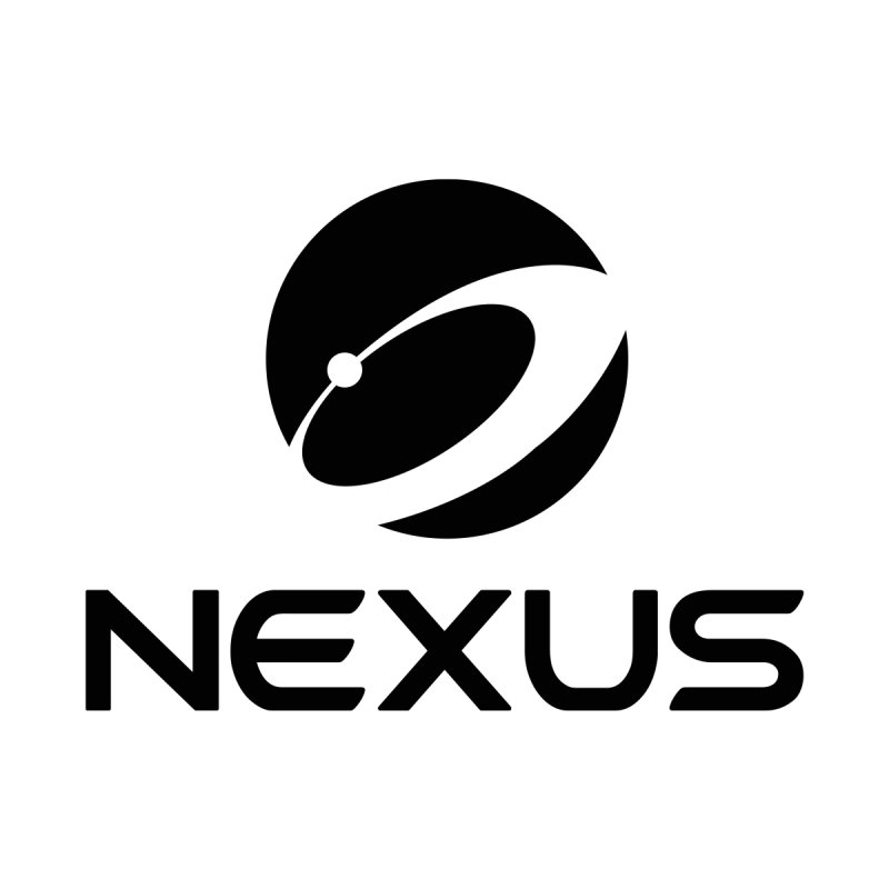 Black Nexus Logo Men's T-Shirt by Nexus Shop