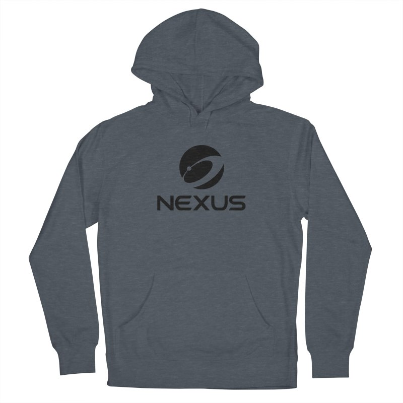 Black Nexus Logo Women's French Terry Pullover Hoody by Nexus Shop