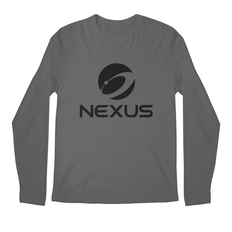 Black Nexus Logo Men's Longsleeve T-Shirt by Nexus Shop