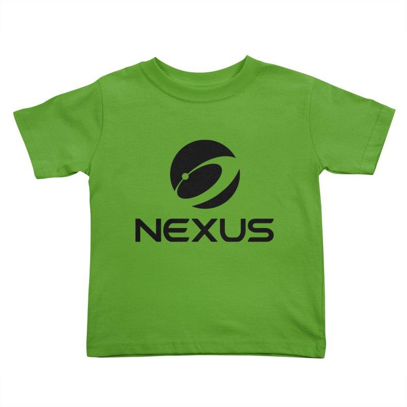 Black Nexus Logo Kids Toddler T-Shirt by Nexus Shop