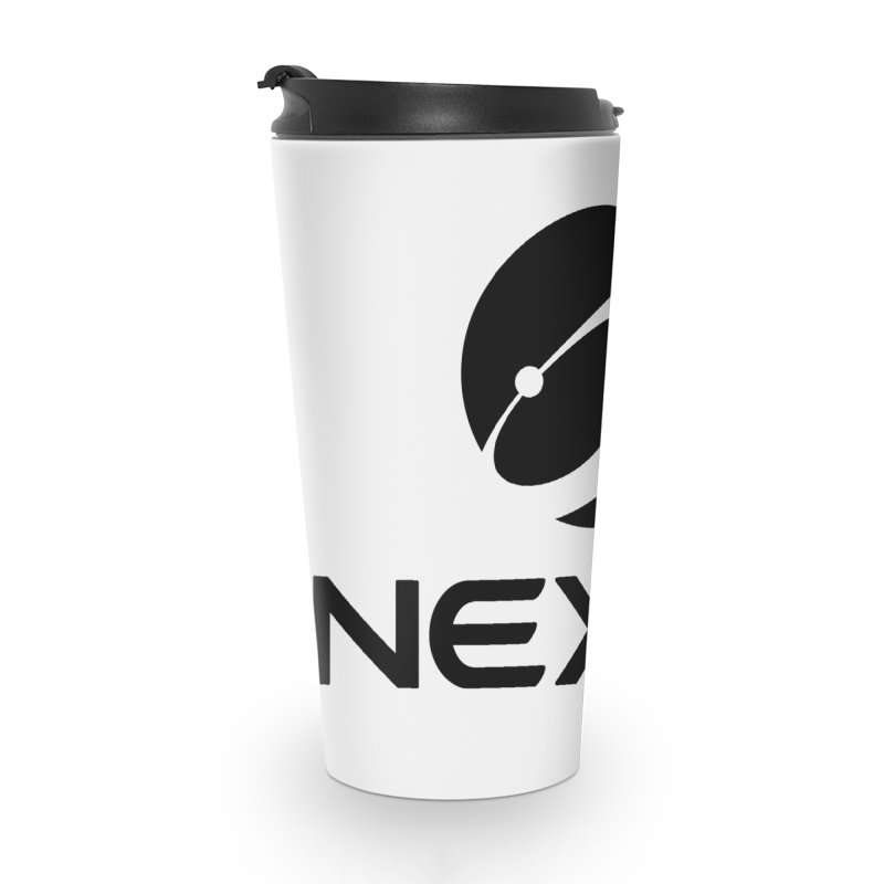 Black Nexus Logo Accessories Travel Mug by Nexus Shop