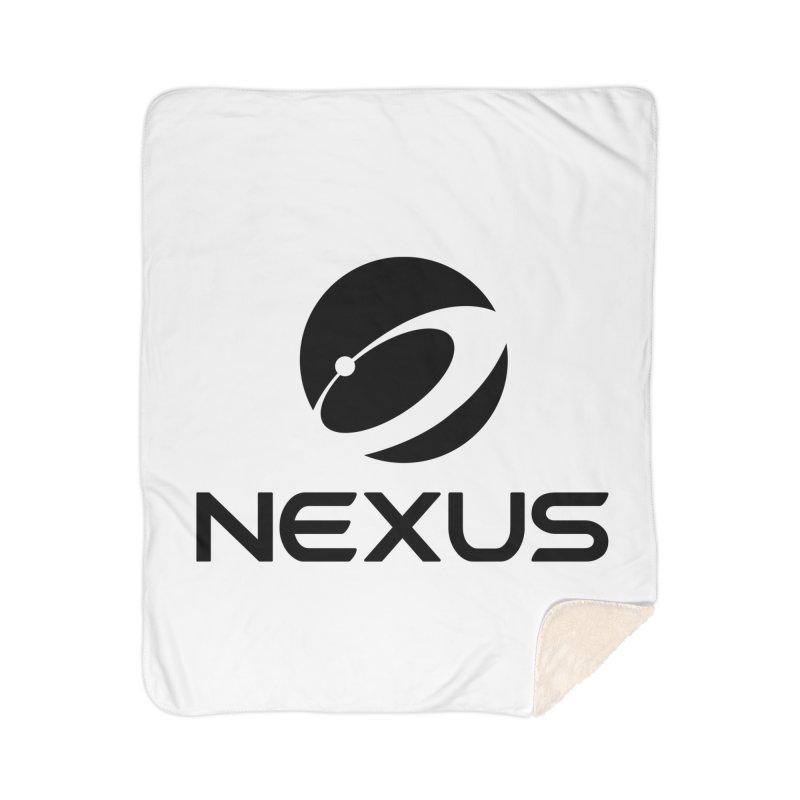 Black Nexus Logo Home Sherpa Blanket Blanket by Nexus Shop