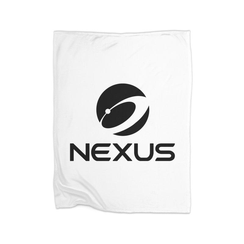 Black Nexus Logo Home Fleece Blanket Blanket by Nexus Shop