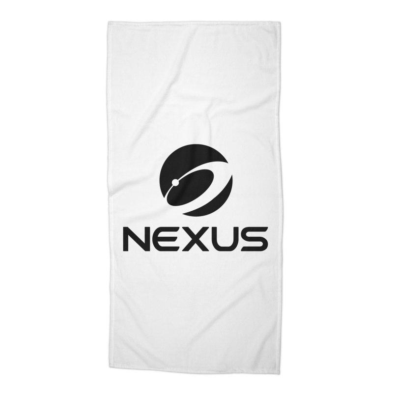 Black Nexus Logo Accessories Beach Towel by Nexus Shop