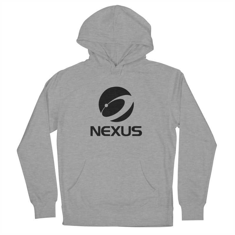 Black Nexus Logo in Women's French Terry Pullover Hoody Heather Graphite by NexusEarth's Shop