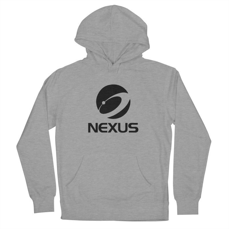 Black Nexus Logo Women's French Terry Pullover Hoody by NexusEarth's Shop