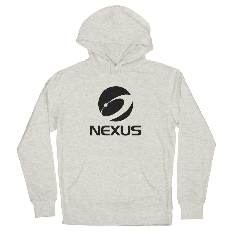 Black Nexus Logo Men's French Terry Pullover Hoody by NexusEarth's Shop