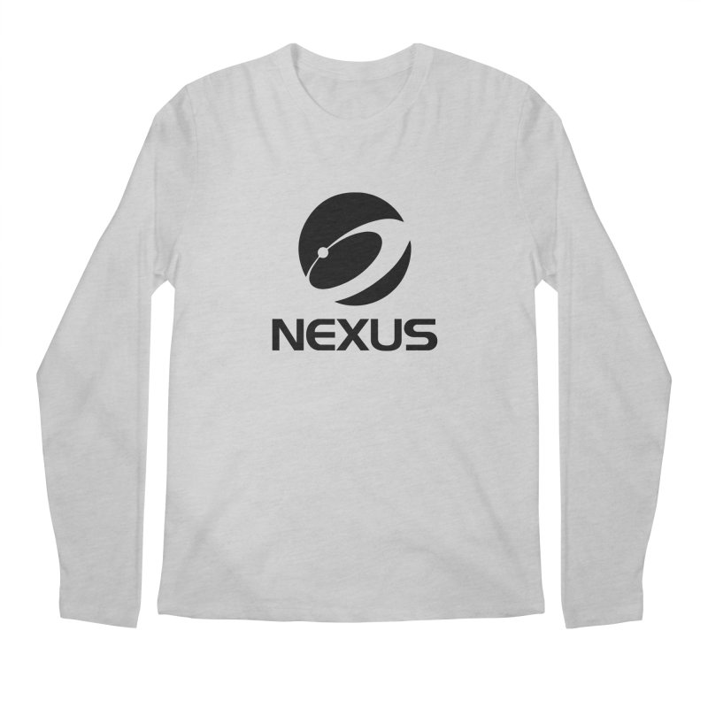 Black Nexus Logo Men's Longsleeve T-Shirt by NexusEarth's Shop