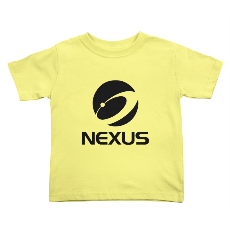 Black Nexus Logo Kids Toddler T-Shirt by NexusEarth's Shop