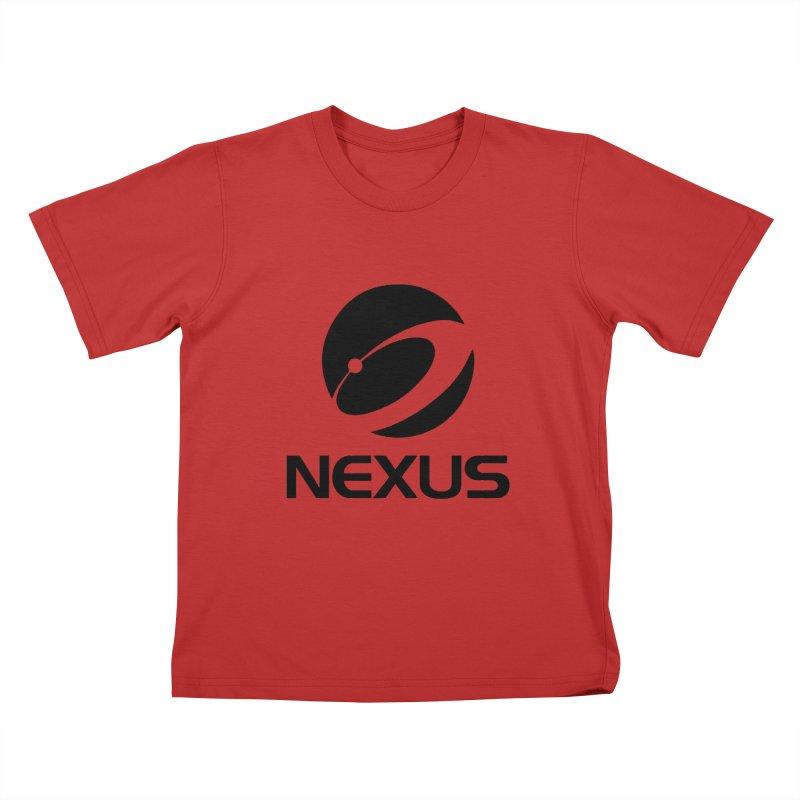 Black Nexus Logo Kids T-Shirt by NexusEarth's Shop