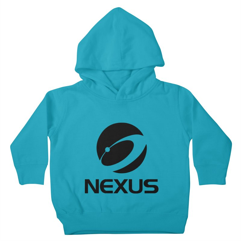 Black Nexus Logo Kids Toddler Pullover Hoody by Nexus Shop