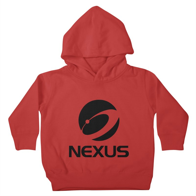 Black Nexus Logo Kids Toddler Pullover Hoody by NexusEarth's Shop