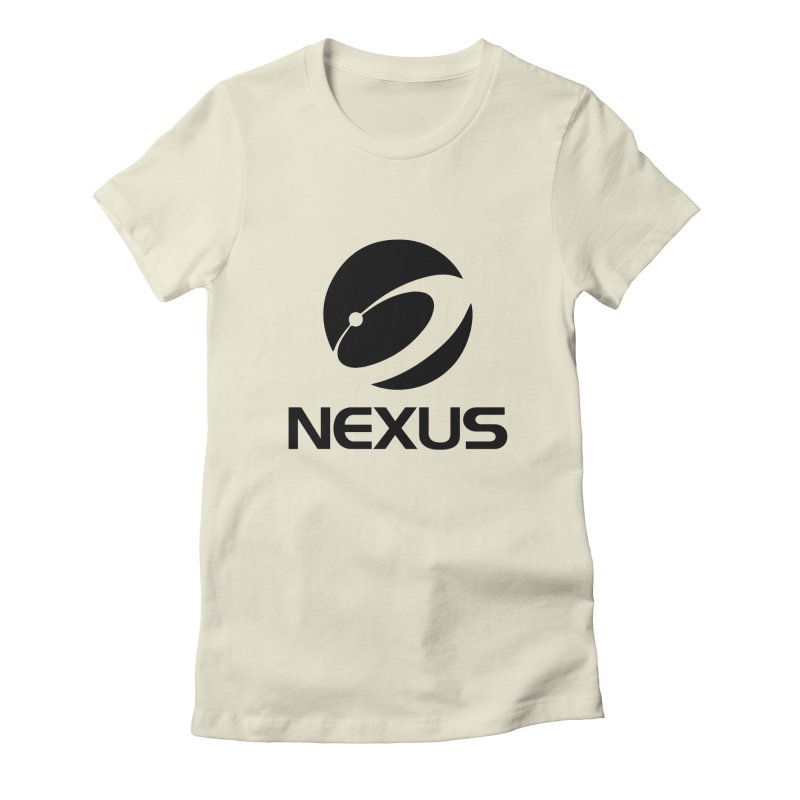 Black Nexus Logo Women's Fitted T-Shirt by Nexus Shop