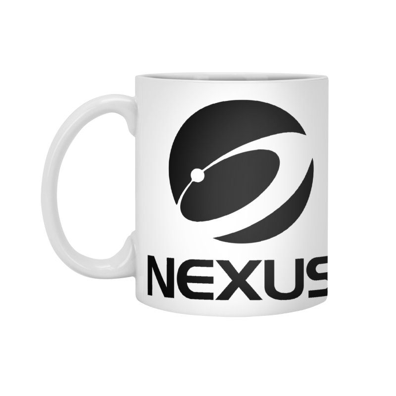 Black Nexus Logo Accessories Mug by NexusEarth's Shop