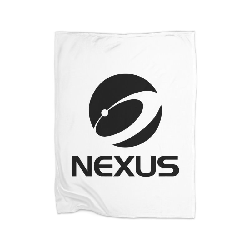 Black Nexus Logo Home Fleece Blanket Blanket by NexusEarth's Shop
