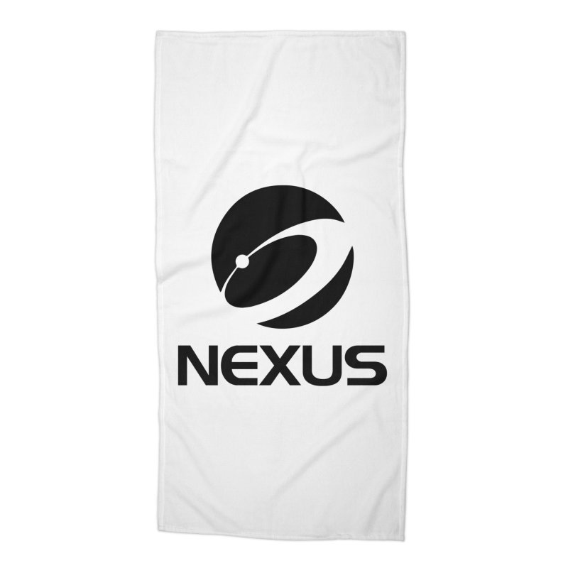 Black Nexus Logo Accessories Beach Towel by Nexus Shop