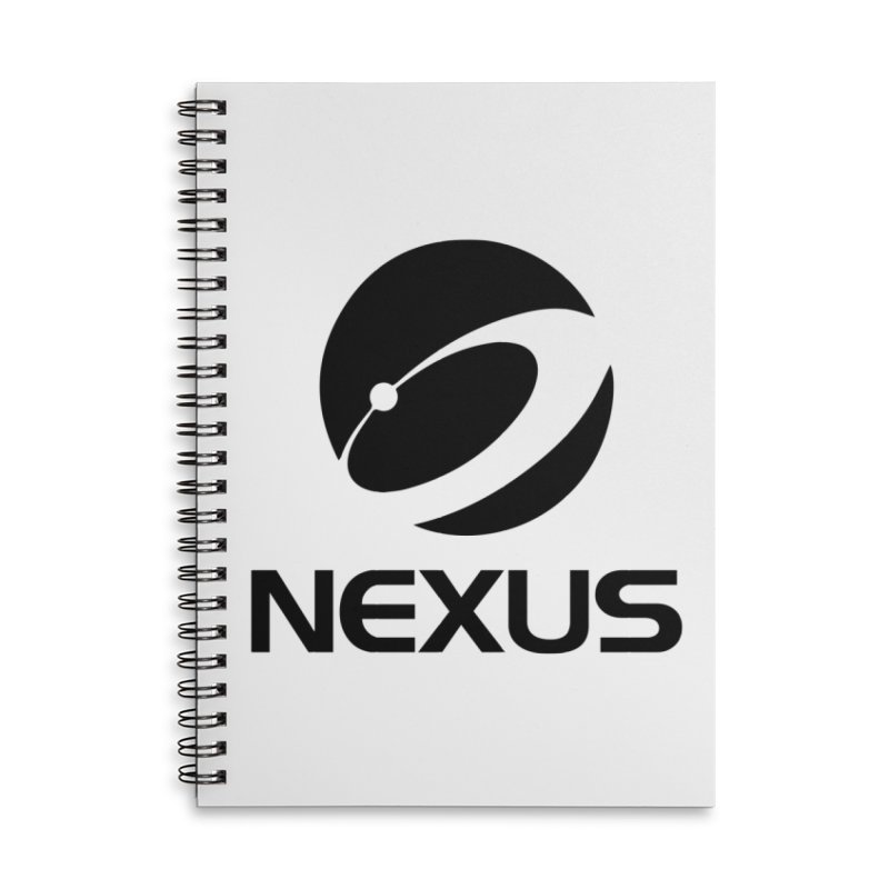 Black Nexus Logo Accessories Lined Spiral Notebook by Nexus Shop