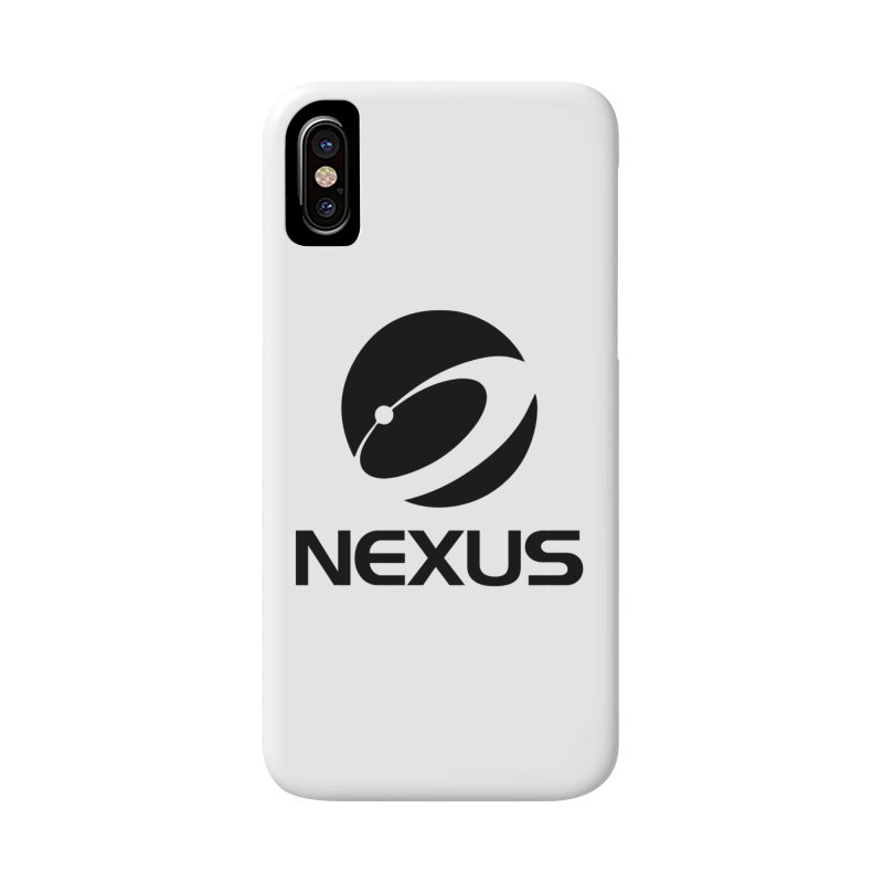 Black Nexus Logo Accessories Phone Case by NexusEarth's Shop