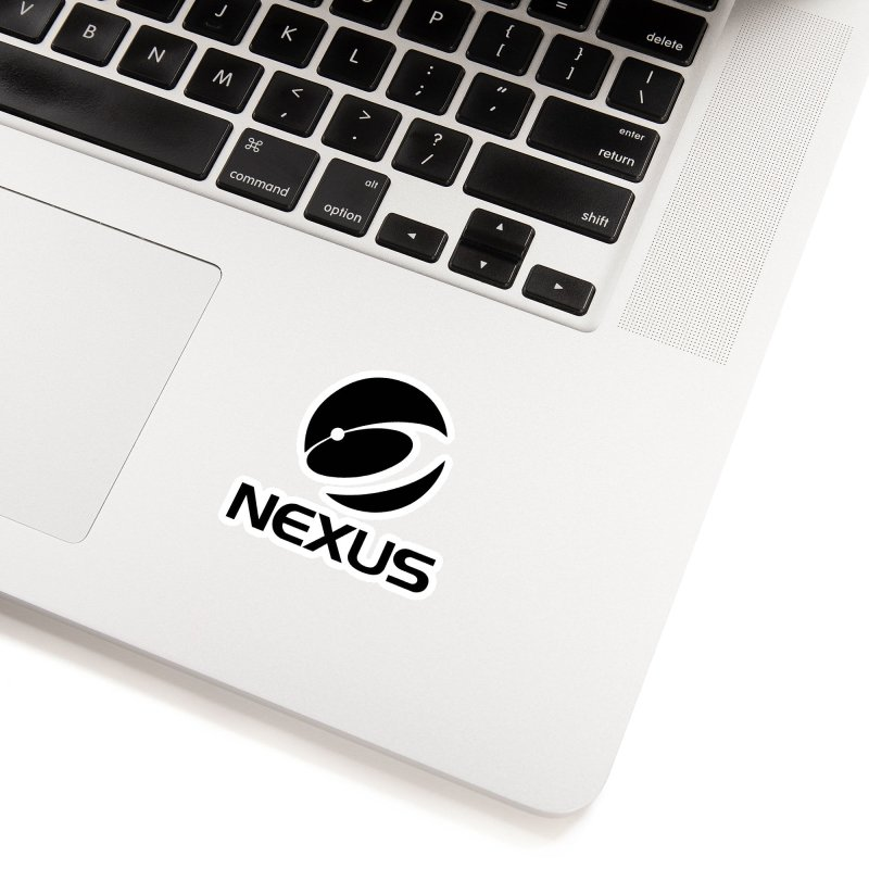 Black Nexus Logo Accessories Sticker by NexusEarth's Shop