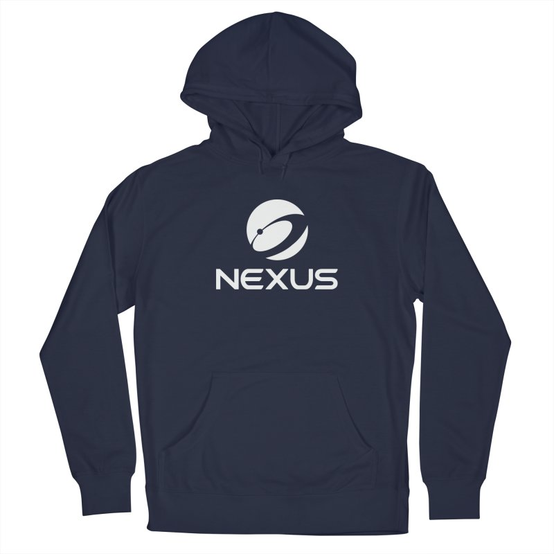 White Nexus Logo Men's Pullover Hoody by Nexus Shop