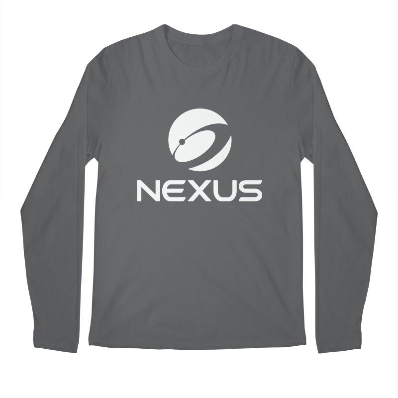 White Nexus Logo Men's Longsleeve T-Shirt by Nexus Shop