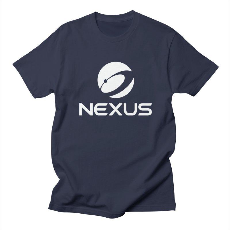 White Nexus Logo Men's Regular T-Shirt by Nexus Shop