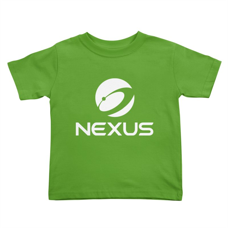 White Nexus Logo Kids Toddler T-Shirt by Nexus Shop
