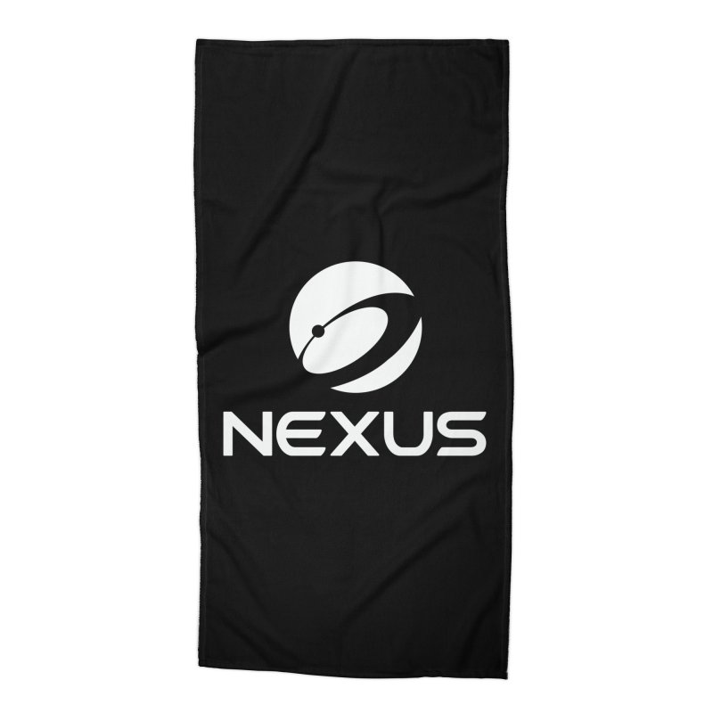 White Nexus Logo Accessories Beach Towel by Nexus Shop