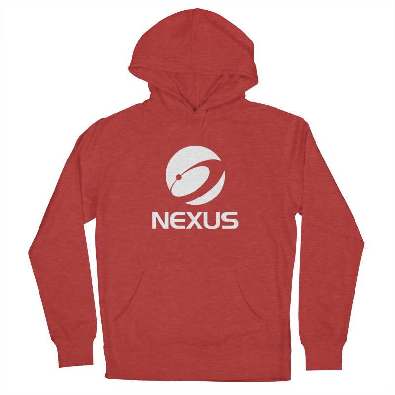 White Nexus Logo Men's French Terry Pullover Hoody by NexusEarth's Shop