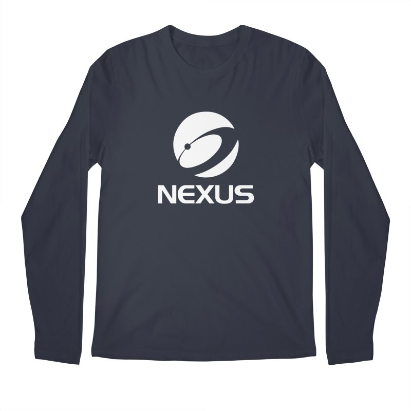White Nexus Logo Men's Regular Longsleeve T-Shirt by NexusEarth's Shop