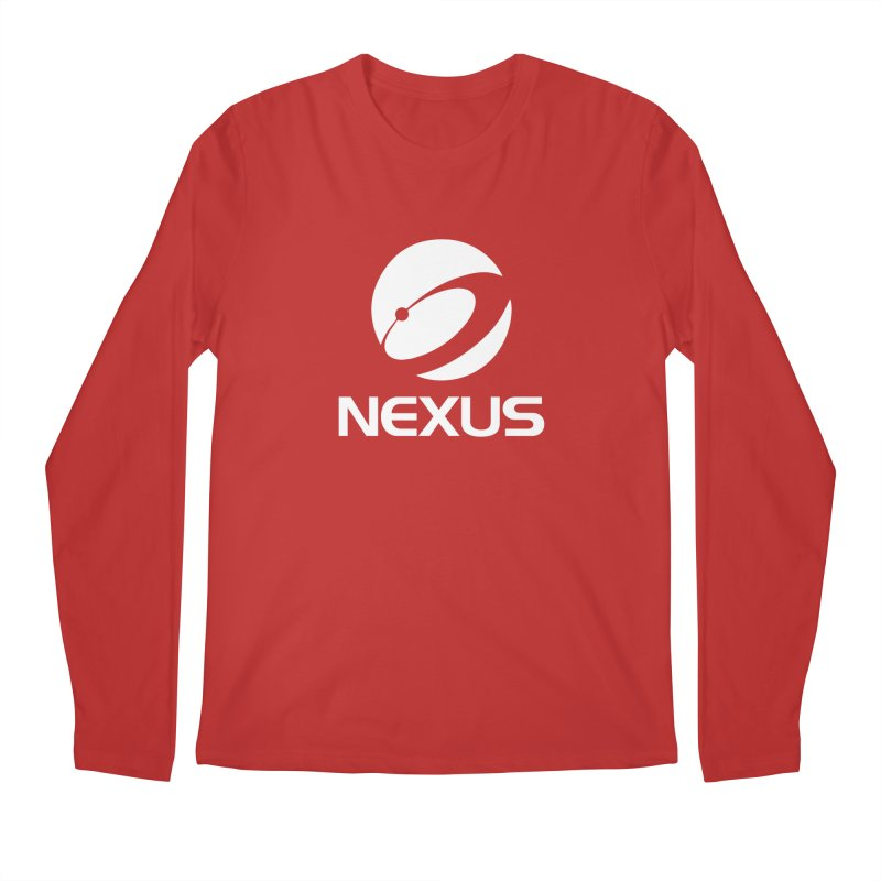 White Nexus Logo Men's Longsleeve T-Shirt by NexusEarth's Shop