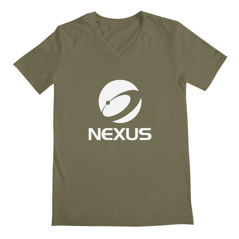 White Nexus Logo Men's Regular V-Neck by NexusEarth's Shop