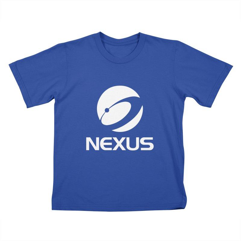 White Nexus Logo Kids T-shirt by NexusEarth's Shop