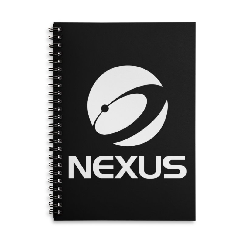 White Nexus Logo Accessories Lined Spiral Notebook by Nexus Shop