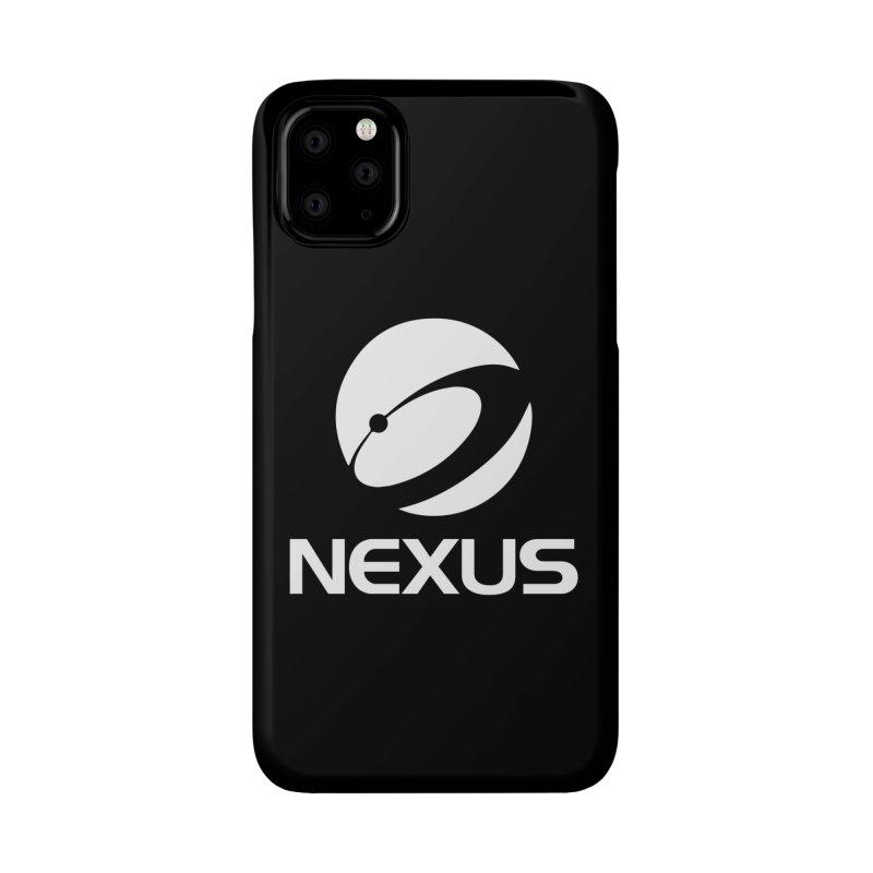 White Nexus Logo Accessories Phone Case by Nexus Shop