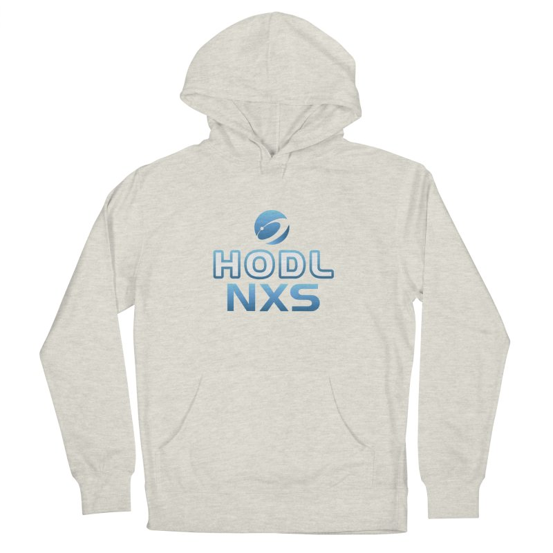 HODL NXS in Men's French Terry Pullover Hoody Heather Oatmeal by NexusEarth's Shop