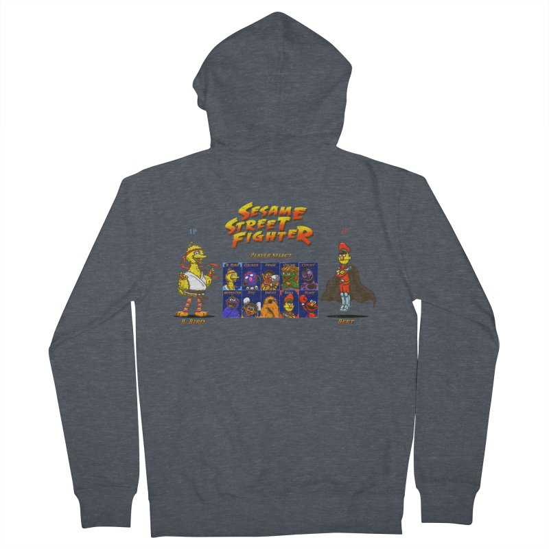 Sesame Street Fighter Men's French Terry Zip-Up Hoody by Den of the Wolf