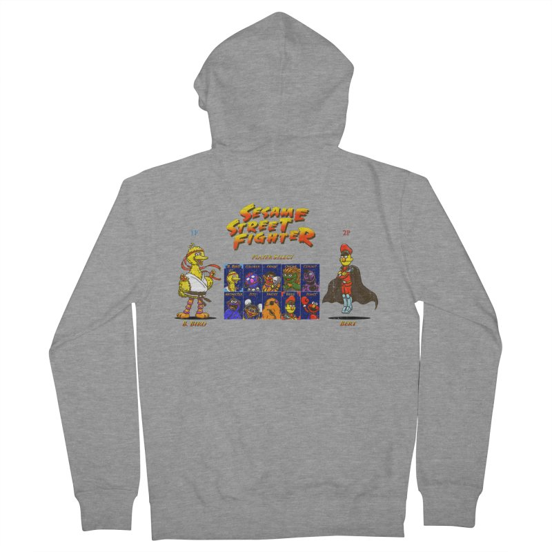 Sesame Street Fighter Men's Zip-Up Hoody by Den of the Wolf