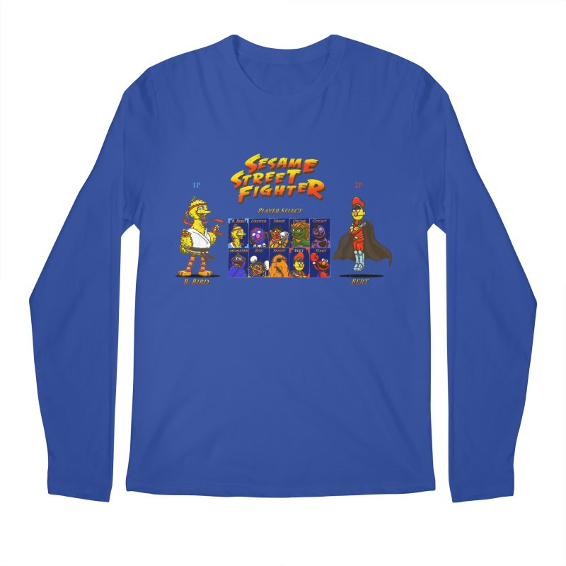 Sesame Street Fighter Men's Longsleeve T-Shirt by NicholasWolf's Artist Shop
