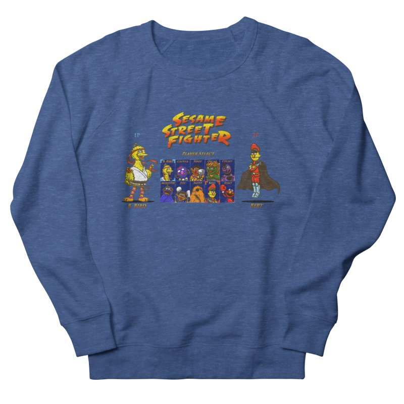 Sesame Street Fighter Women's French Terry Sweatshirt by Den of the Wolf